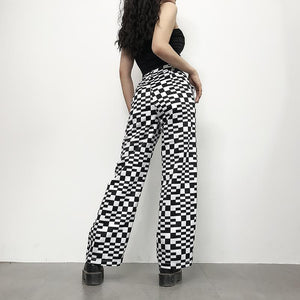 Irregular Checkered Pants