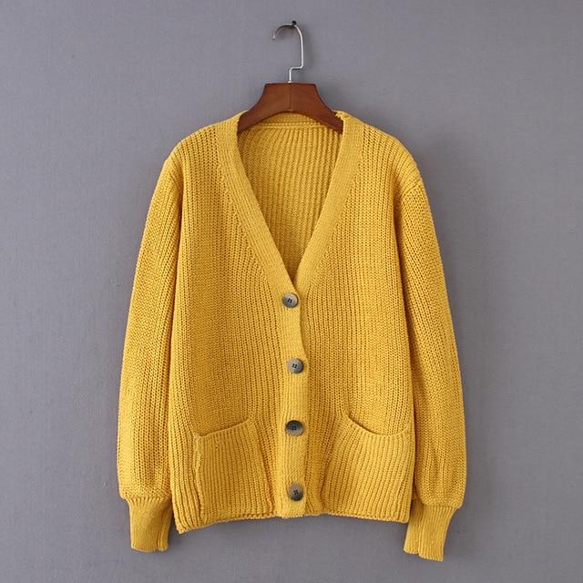 Knitted Plain Cardigan