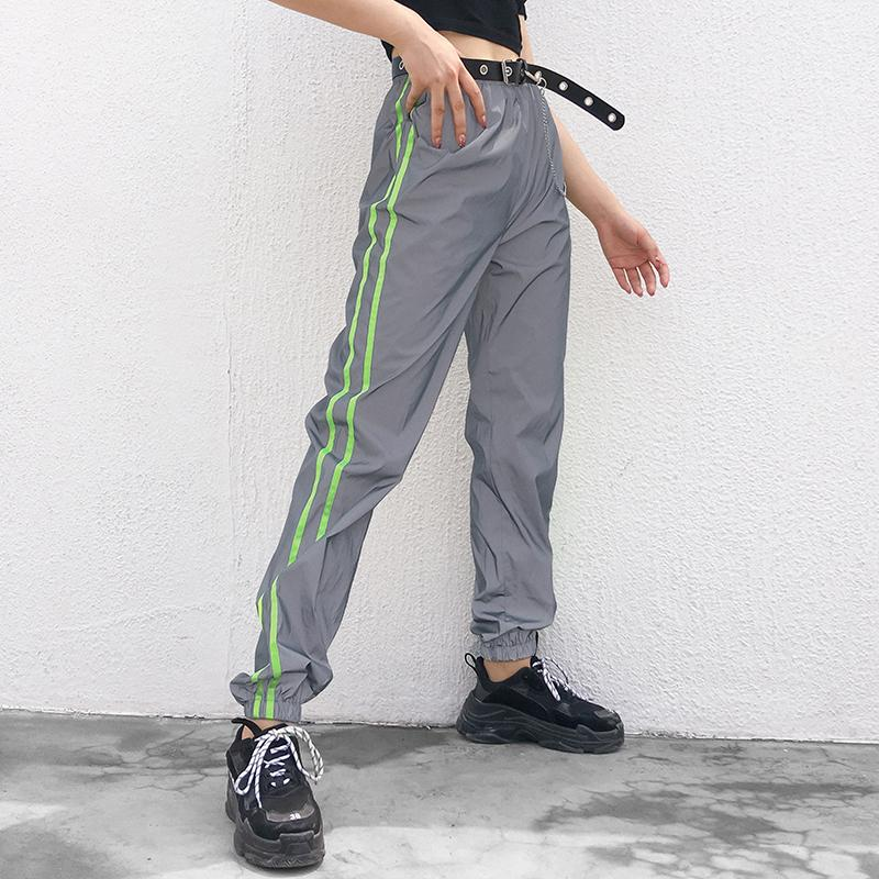 Neon Stripe Reflective Pants
