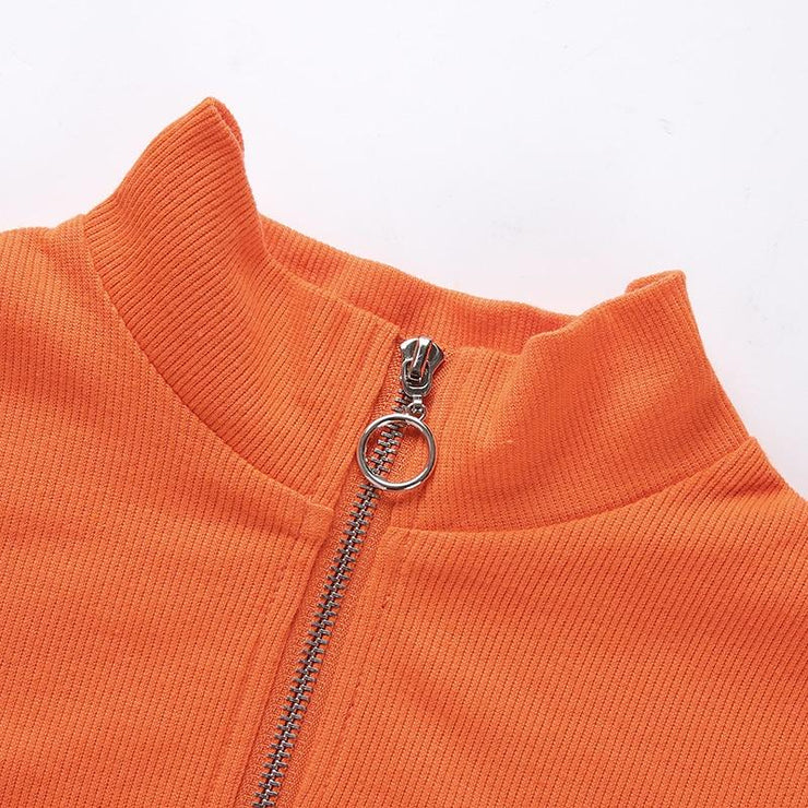 Neon Zipper Long Sleeve