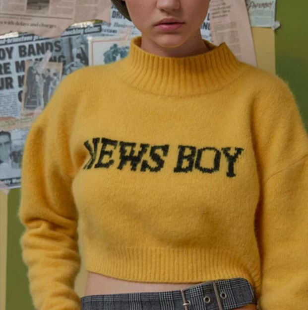 News Boy Cropped Jumper