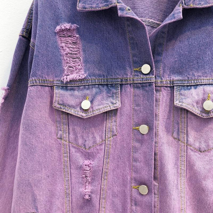 Ombre Wash Denim Jacket