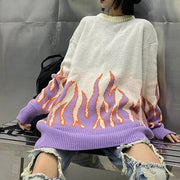 Oversized Flame Sweater
