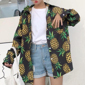 Pineapple Oversized Shirt
