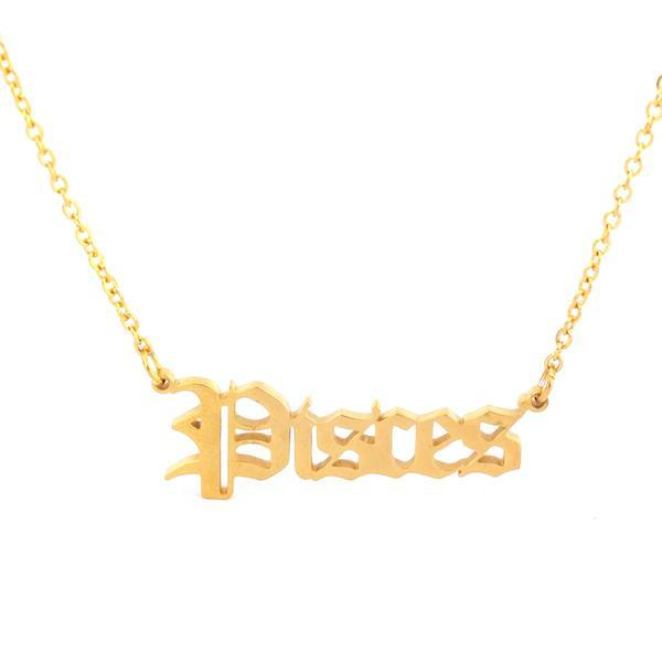 Pisces - Zodiac Necklace