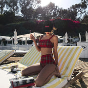 Plaid Bikini Set