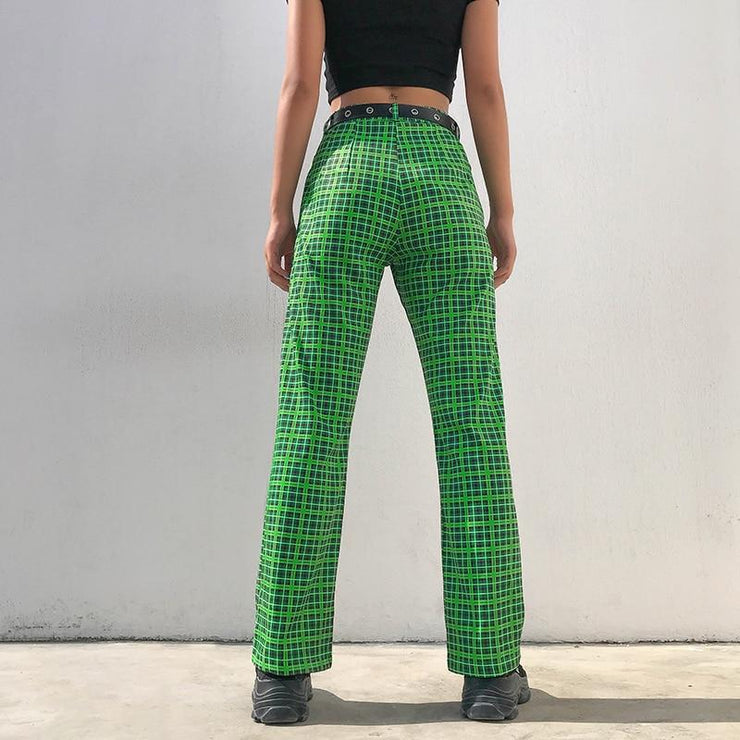 Plaid Green Pants