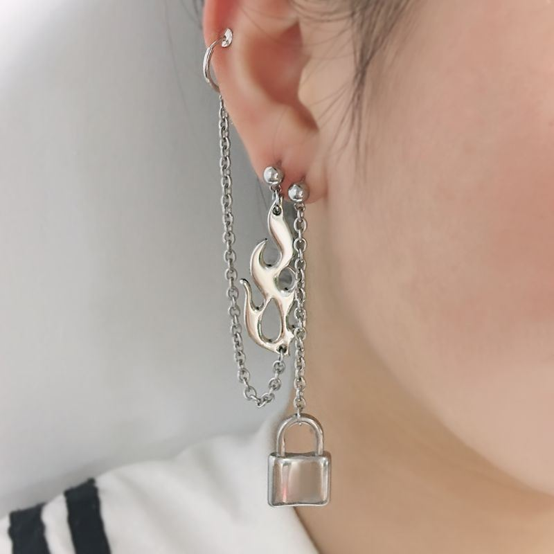 Punk Rock Flame Drop Earrings