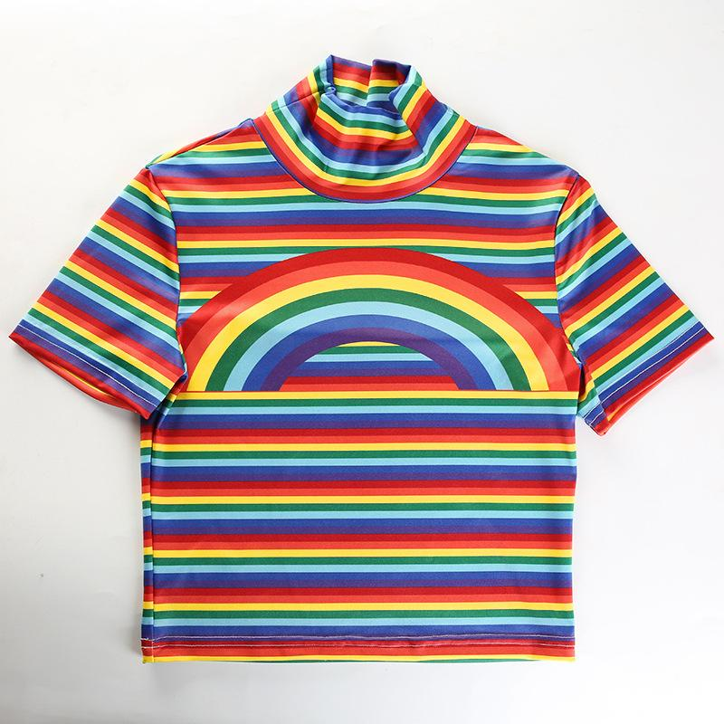 Rainbow on Rainbow High Neck Top