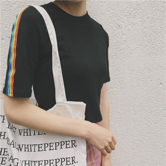 Rainbow Sleeve Tee