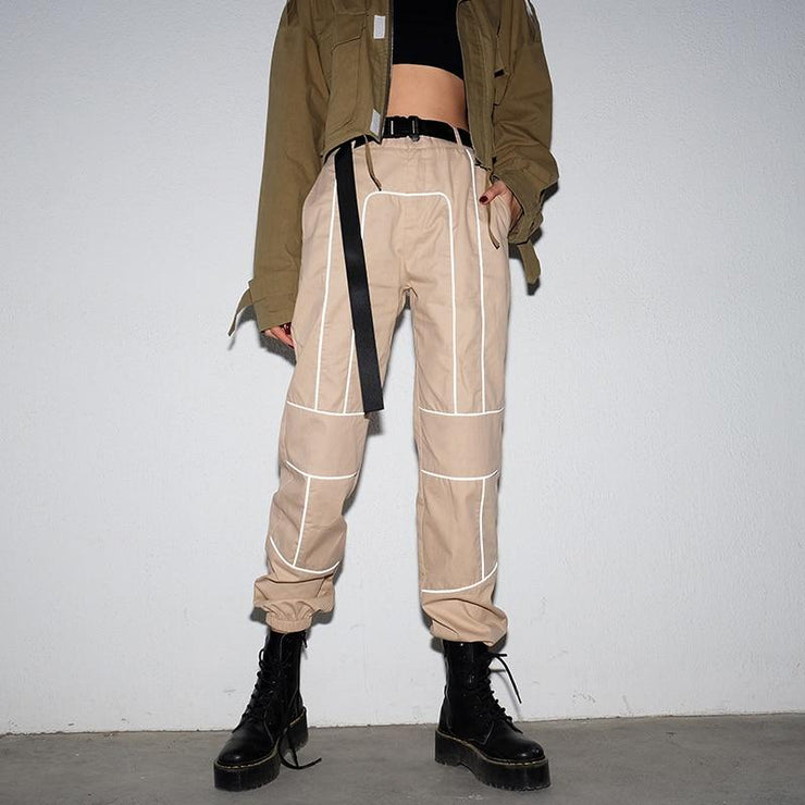 Reflective Pattern Pants