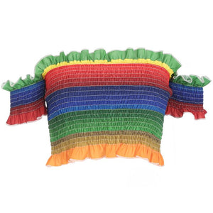 Shirred Rainbow Top