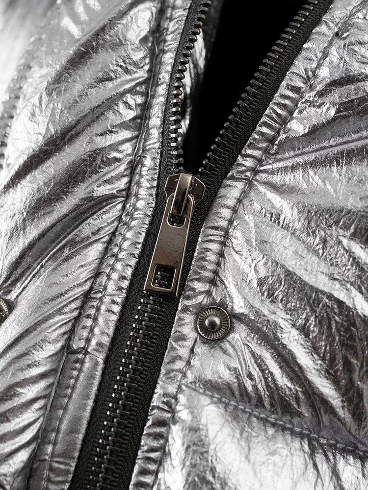 Silver Puffer Jacket