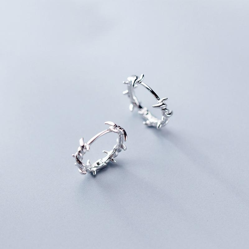 Sterling Silver Wire Hoop Earrings