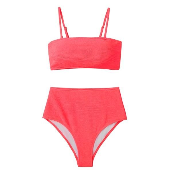 Strapped Tube Neon Bikini Set