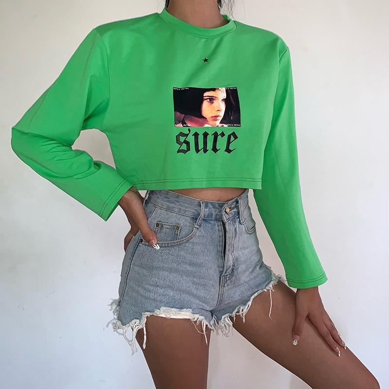 """Sure"" Cropped Sweatshirt"