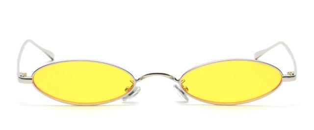Thin Oval Sunglasses