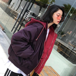 Two-Sided Warm Bomber Jacket