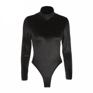 Velvet Turtleneck Bodysuit