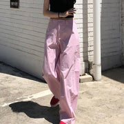 Wide-Leg Canvas Pants