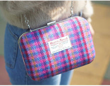 Rainbow Harris Tweed Clutch Bag