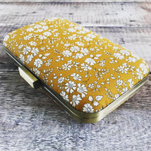 Mustard Liberty Print Clutch Bag