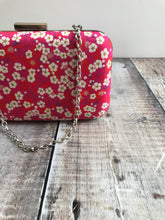 Fuchsia pink Liberty Print Clutch Bag