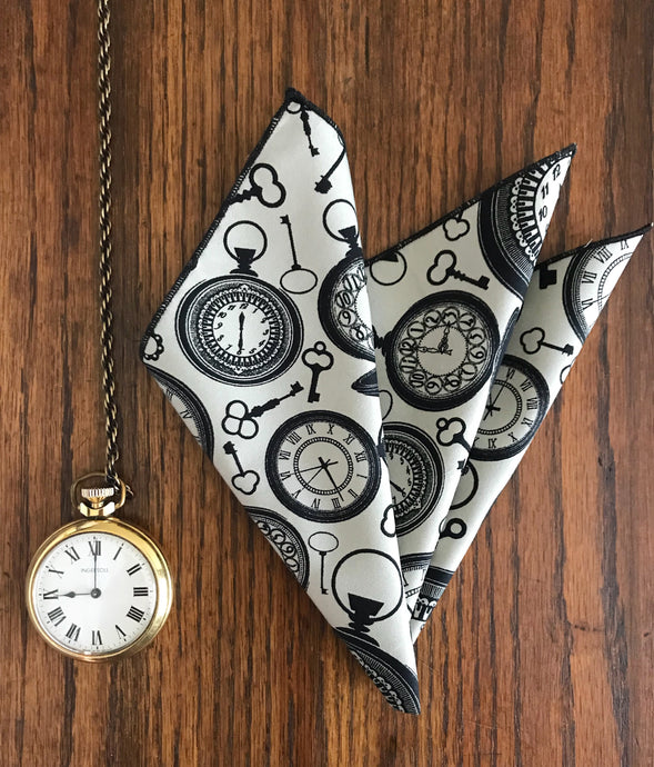Pocket Square 'Pocket watch' print