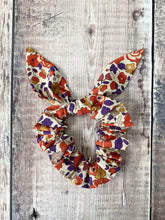 Liberty Scrunchie 'Betsy' Mustard, Orange and Purple