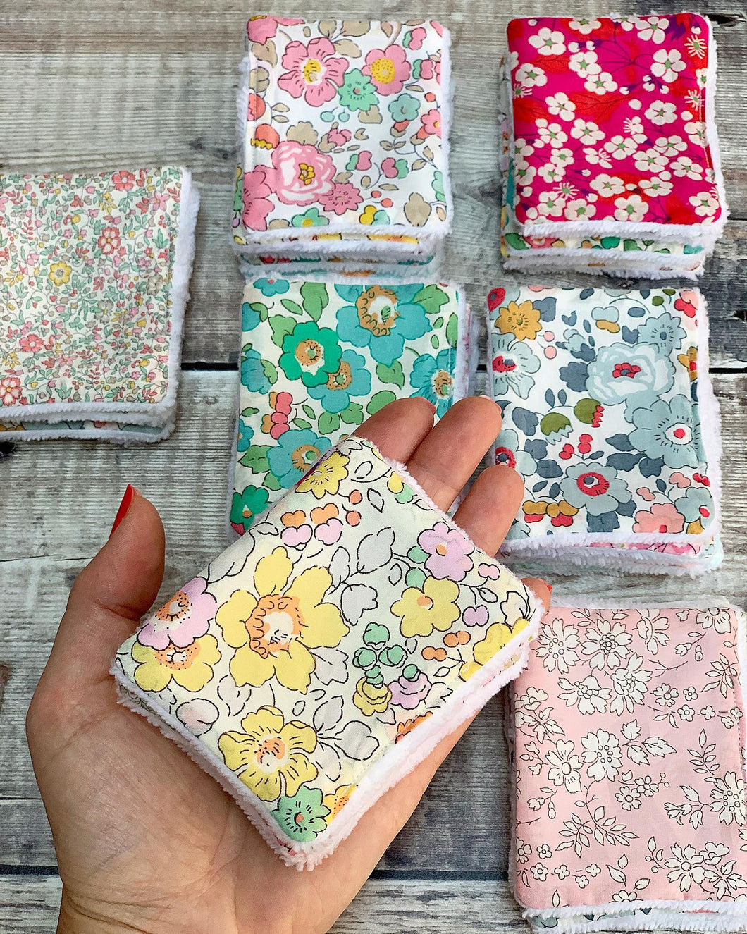 Liberty print Re Usable Face Wipes