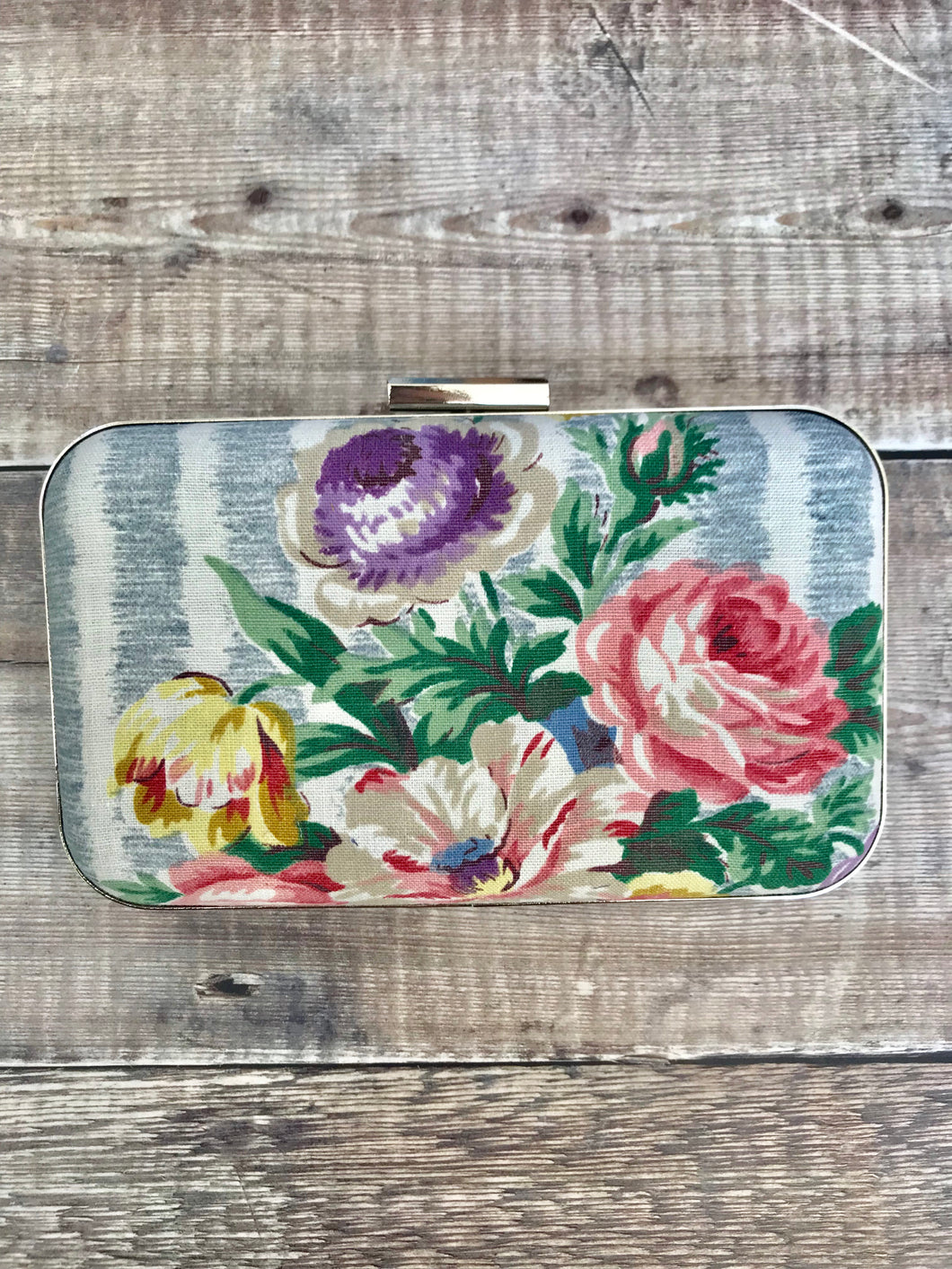 Vintage Rose Clutch Bag
