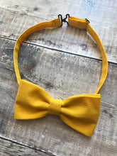 Linen Dickie Bow, Sunshine Yellow Bow Tie