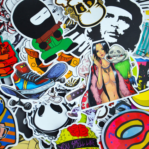 50 Pcs Black & White Sticker Bomb