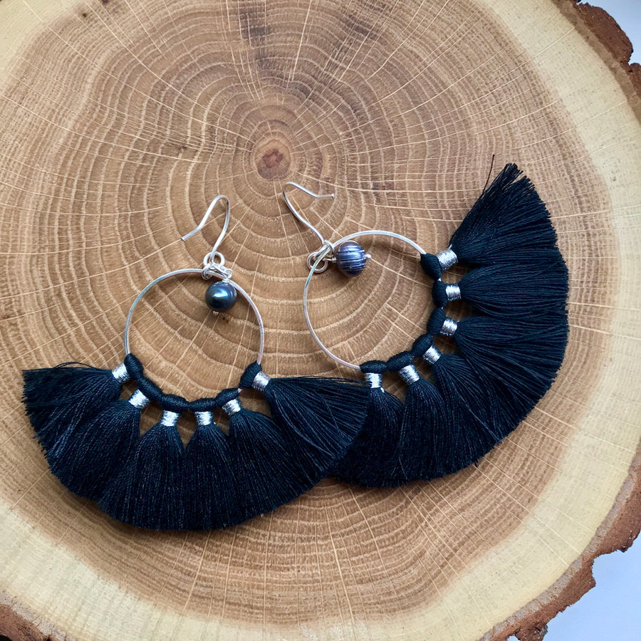 KIPAS BLACK earrings