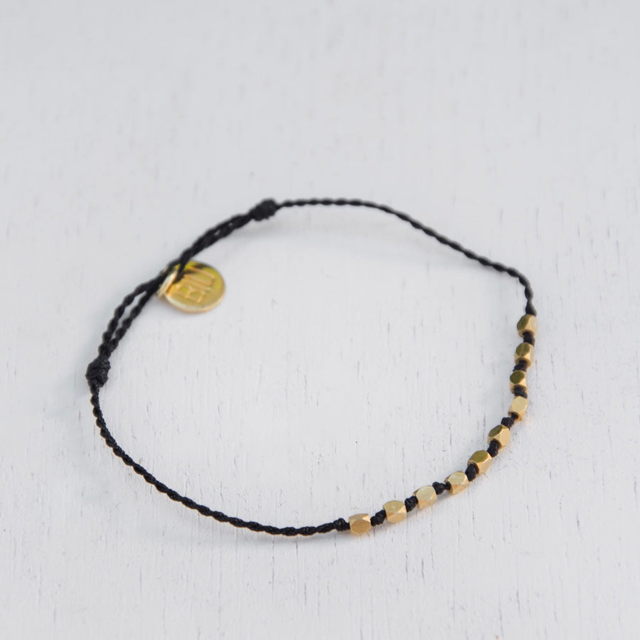 DARA lace bracelet 22k gold plated