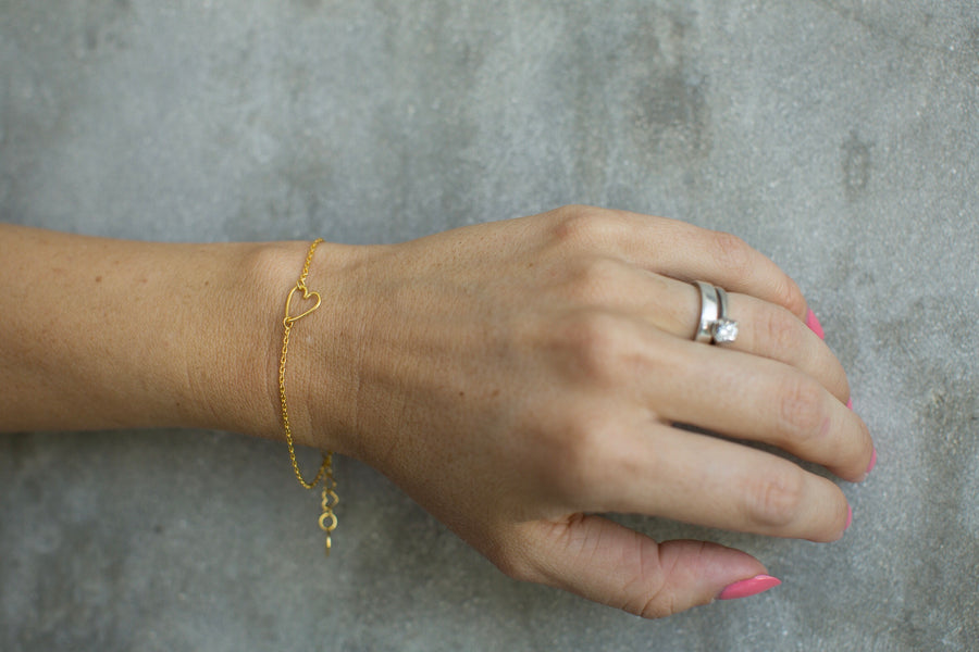 CINTA LOVE bracelet 22k gold plated