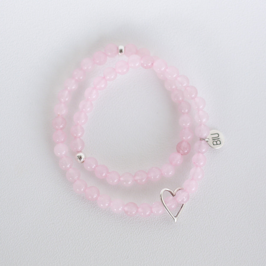 Cinta ROSE QUARTZ double bracelet