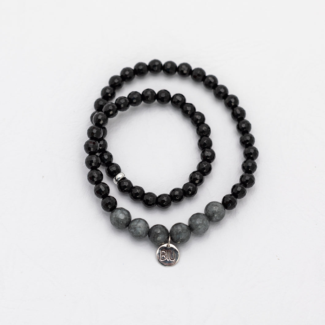 NUSA DUA BLACK double bracelet