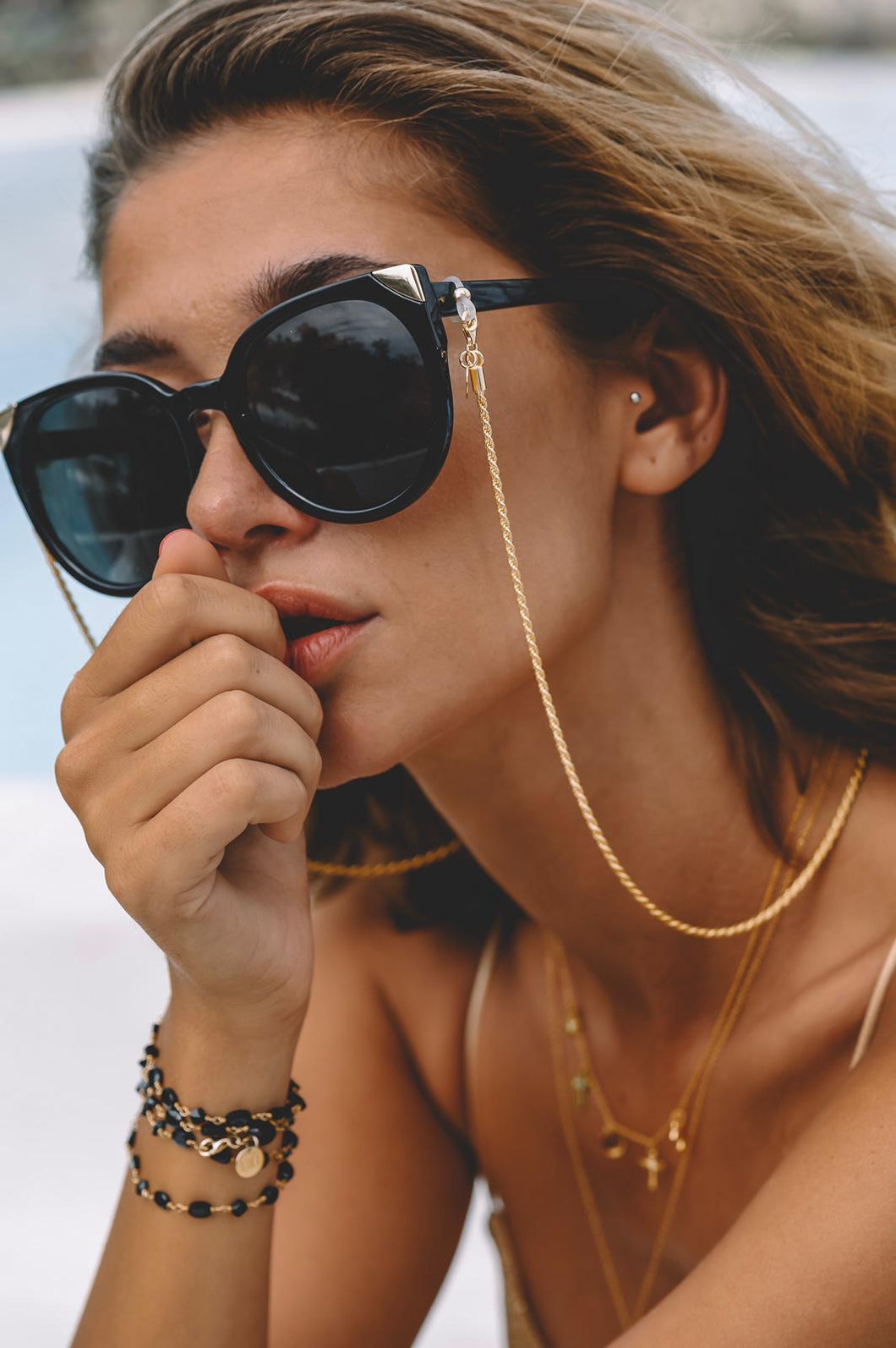 EMAS LUX GOLD sunglasses chain