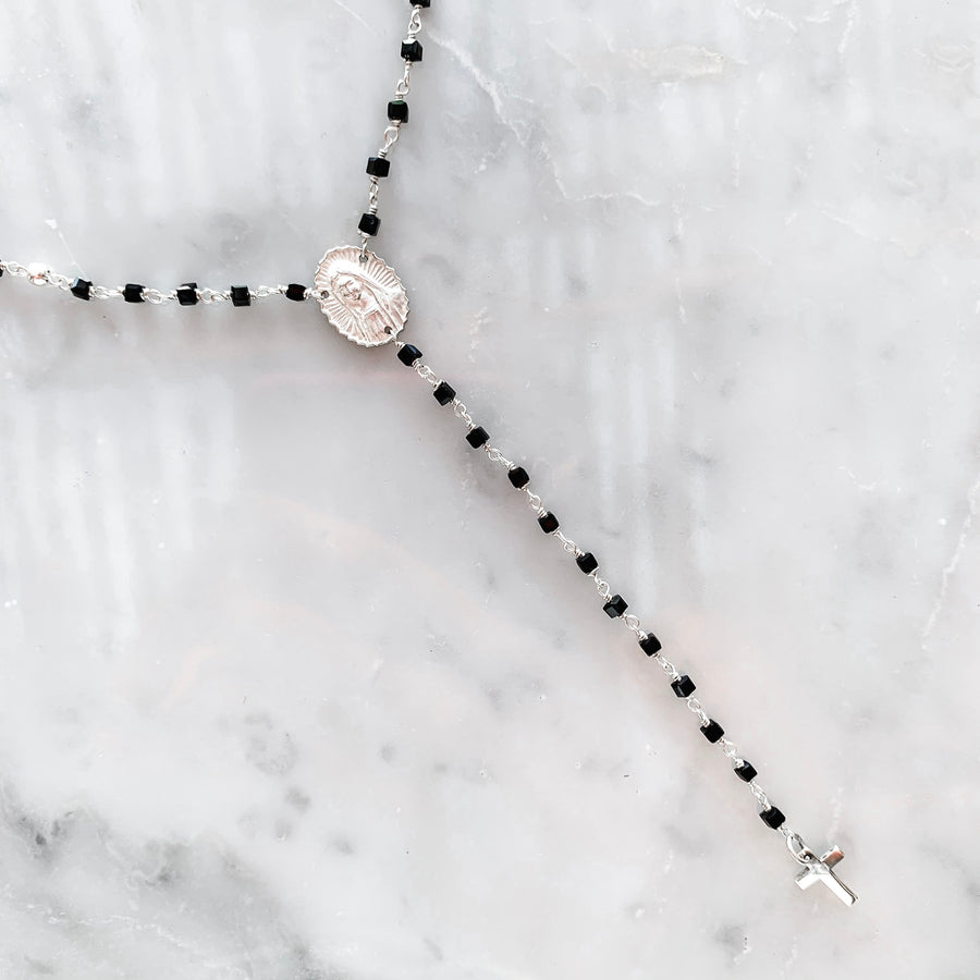 MADONNA ROSARY long necklace