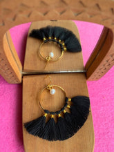 KIPAS BLACK earrings 22k gold plated