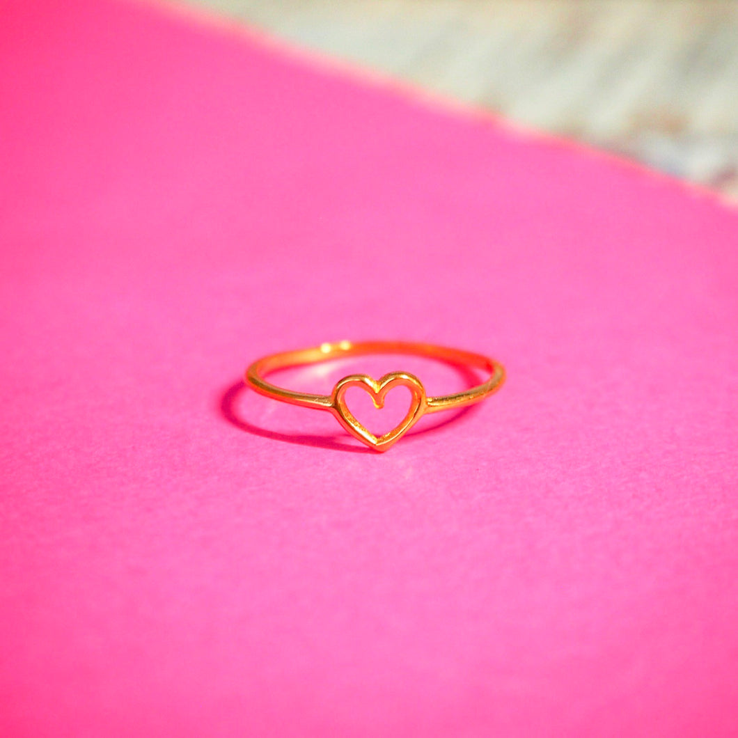 CINTA heart ring 22k gold plated