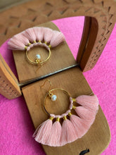 KIPAS POWDER PINK earrings 22k gold plated