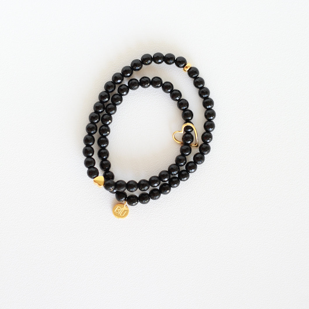 Cinta ONYX double bracelet 22k gold plated