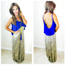 Cobalt Santorini Bronze Maxi Dress