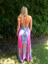 Diamond Rosefinch Halter Dress