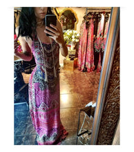 Pink Tantress Silk Spaghetti Strap Maxi Dress
