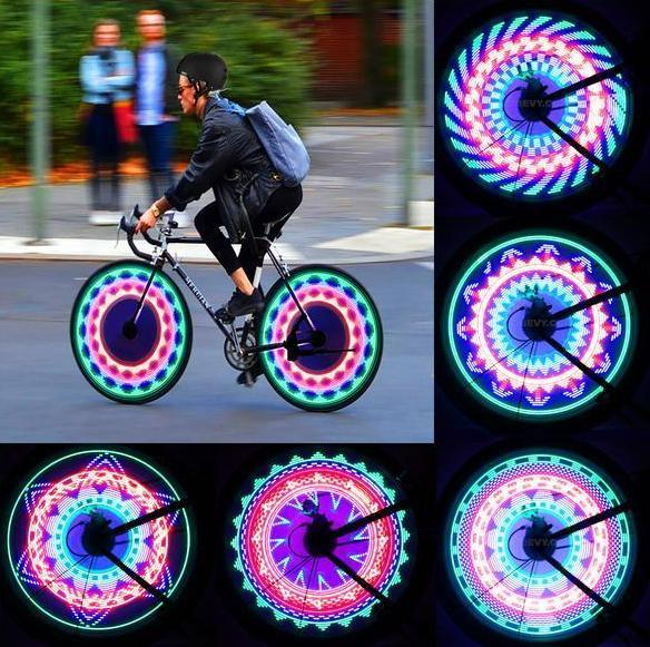 Ornamental LED light for bicycle wheels 32 RGB