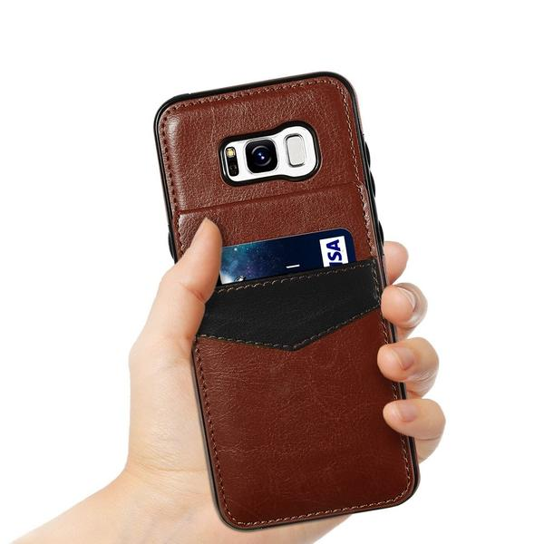 Leather wallet case for Samsung