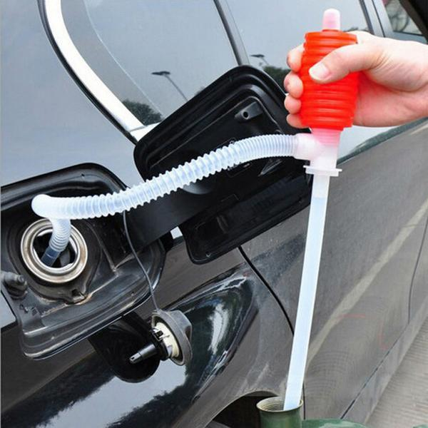 Manual siphon pump for cars